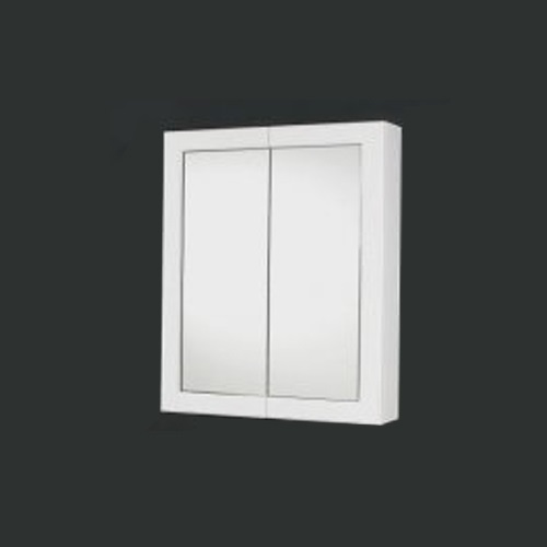Cabinets with White Poly Framed Mirror Doors