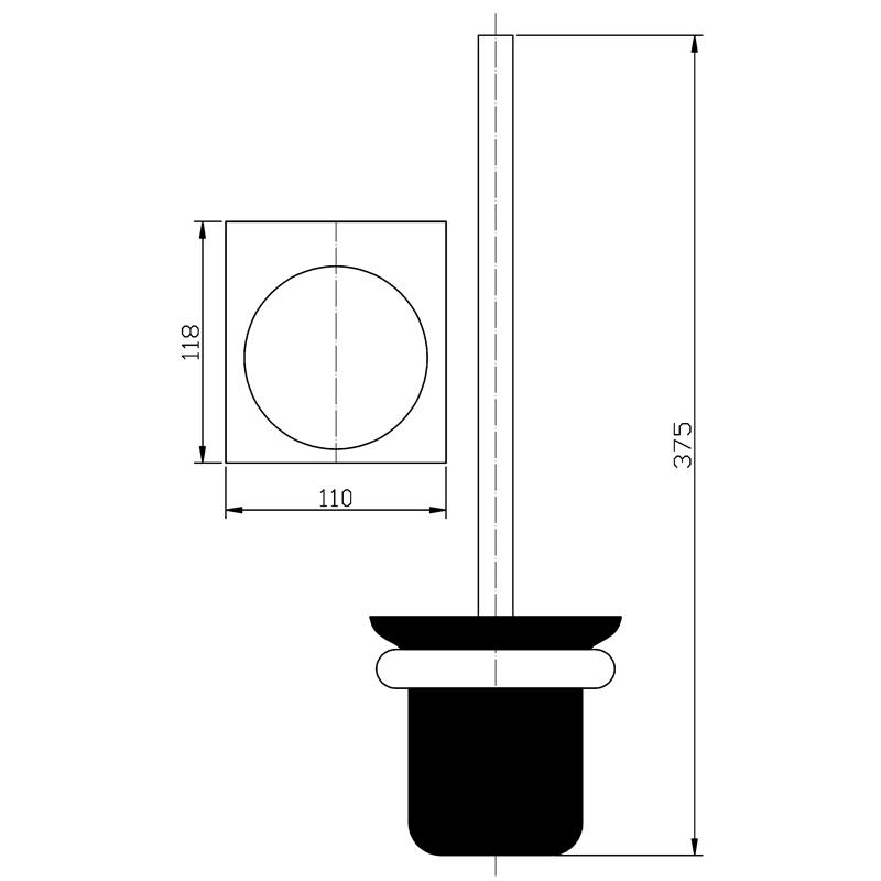 Toilet Brush Black Nationalapollo