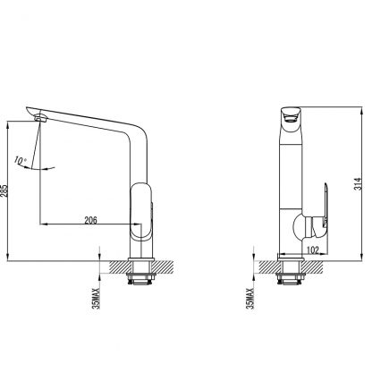 Kara CW Sink Mixer