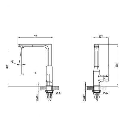 SETO Ch/W Sink Mixer