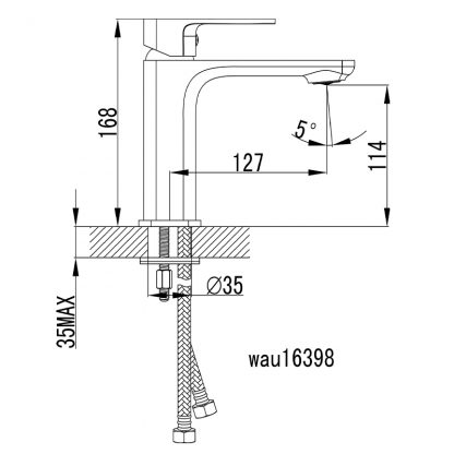SETO Black/RG Basin Mixer