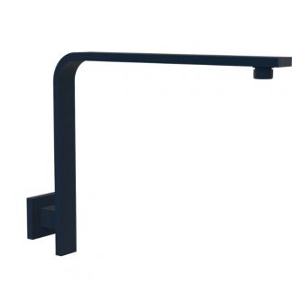 Square Flat Wall Rising Arm Matt Black